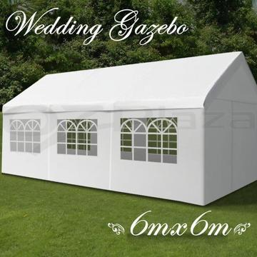 Partytent 6 x 6 meter, party tent 6x6 grote partytenten