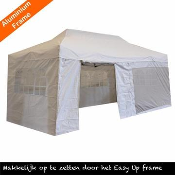Aluminium easy up partytent 3x6, party tent 3 x 6, wit