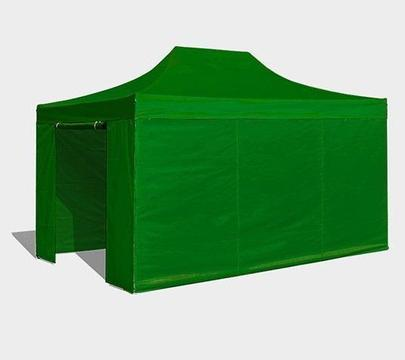 Easy up partytent 3x4.5 incl. zijwanden groen