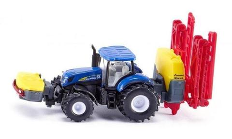 Siku Farmer 1799 New Holland T7070 met Kverneland gewasbe