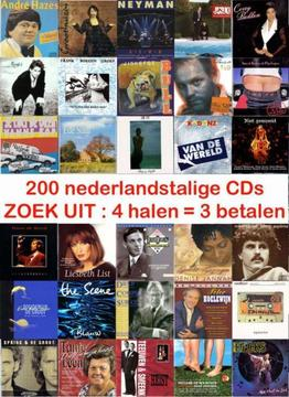 200 Nederlandstalige pop CDs / KIES UIT de LIJST