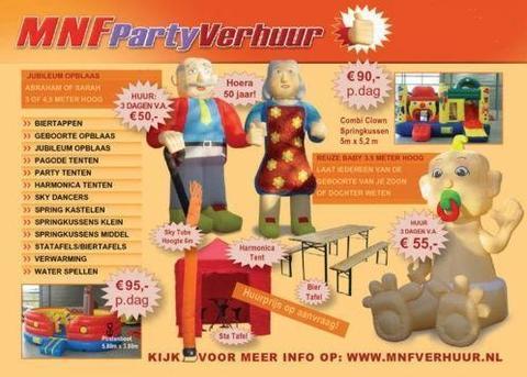 Partytent, vouwtenten, springkussen huren vanaf € 27,00