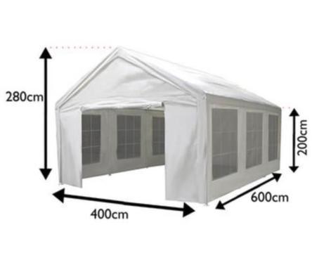 Party tent, 4 x 6 m