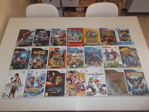 Nintendo Wii Mario Kart , Zelda , Lego Star Wars , Batman