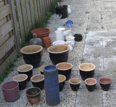 Te Koop: Diverse plantenpotten en vazen