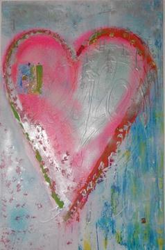 kleurrijk schilderij - acryl verf - Diverse zie foto