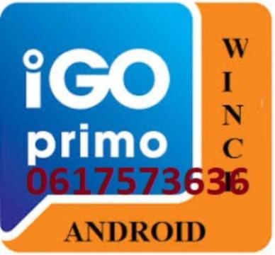 update Europa 2019 Igo 8 Primo android windows CE navigatie
