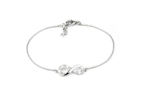 Infinity armband met zirkonia's van Sterling zilver