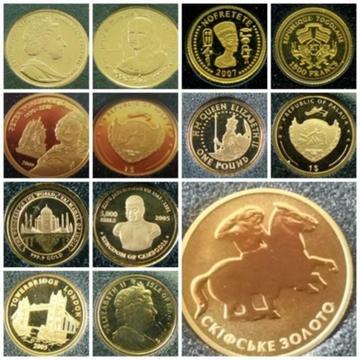 HELP! Hobby uit de hand gelopen, munten in goud/zilver