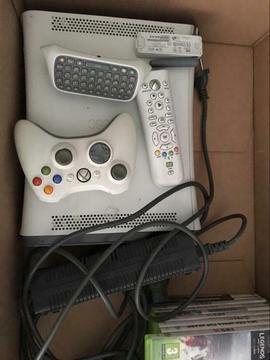 Xbox 360 met 9 spellen, controller en wifi adapter