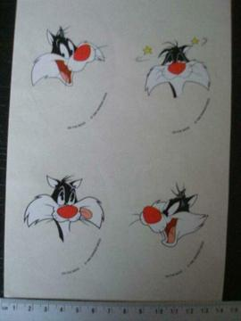 ruit sticker sylvester de kat van warner bros 1995