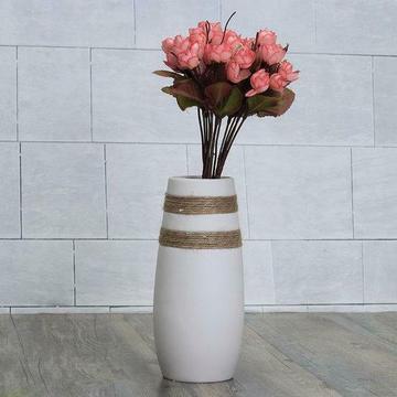 Witte Creatieve Moderne Keramische Bloem Vaas Met Handgem