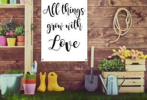 Mooie tuindoeken / tuinposters ter decoratie van je tuin