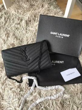 Yves Saint Laurent YSL caviaar leer zwart dames vrouwen tas