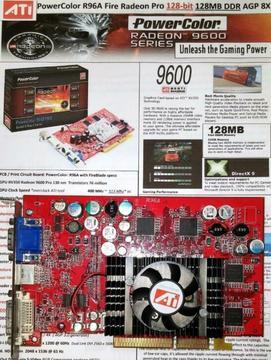PowerColor Radeon 9600 Pro FireBlade 128-bit 128MB AGP 8X