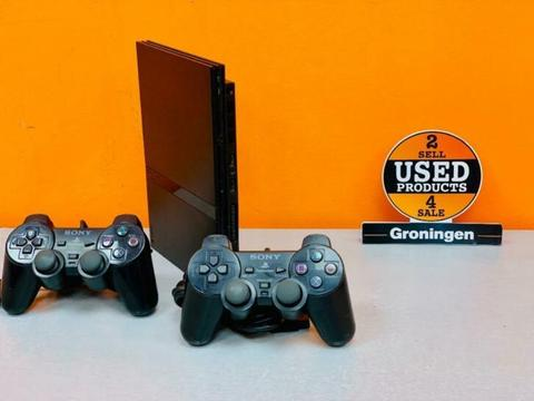 [PS2] Sony PlayStation 2 Slim + 2 Dualshock controllers
