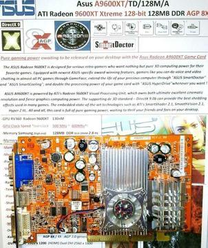 Asus Radeon A9600XT HTD Xtreme VIVO 128-bit 128MB DDR AGP 8X