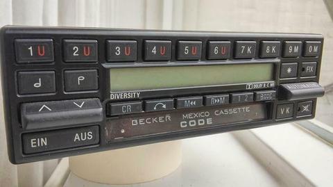radio benz mercedes - Becker mexico diversity - 1988-1988