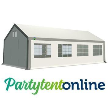 Partytent 4x8 m PVC Wit-Grijs, Partytent-online