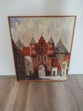 2 schilderijen van Bergen op Zoom