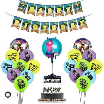 Compleet Fortnite verjaardag versiering feestpakket NIEUW