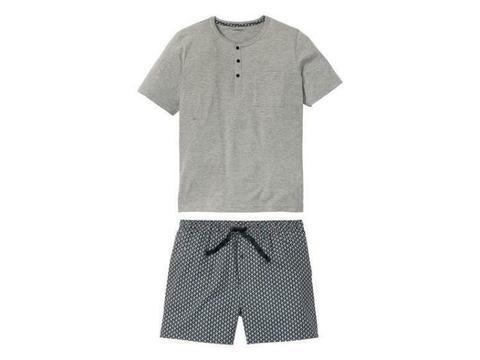 Korte heren pyjama XL (56/58), Grijs