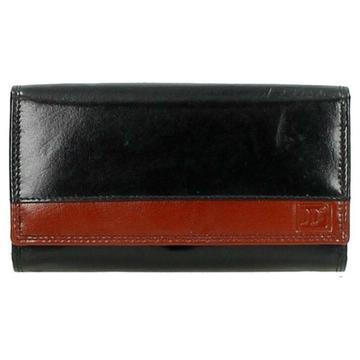 Dames knip portemonee zwart bruin