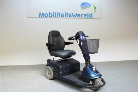 Scootmobiel Sterling XS blauw 3-wieler gebruikt